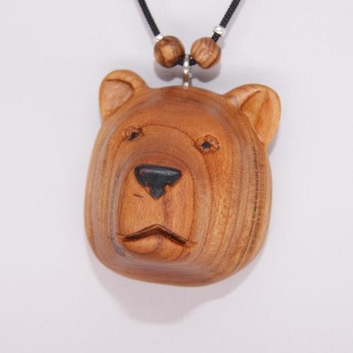32- Collier tête d'Ours en Abricotier
