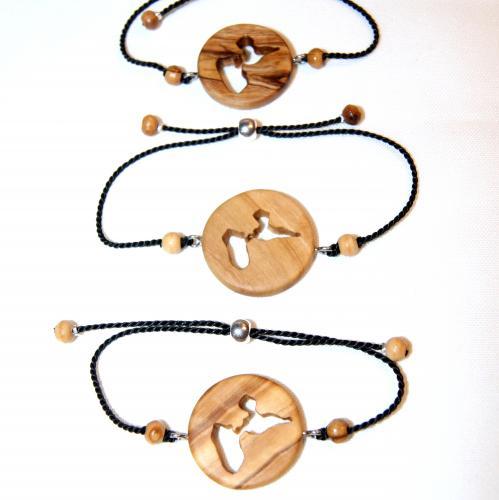8- Bracelets empreinte de Guadeloupe en Olivier